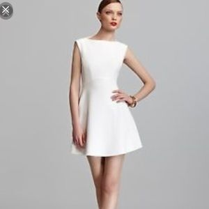 French Connection boatneck white cocktail dress
